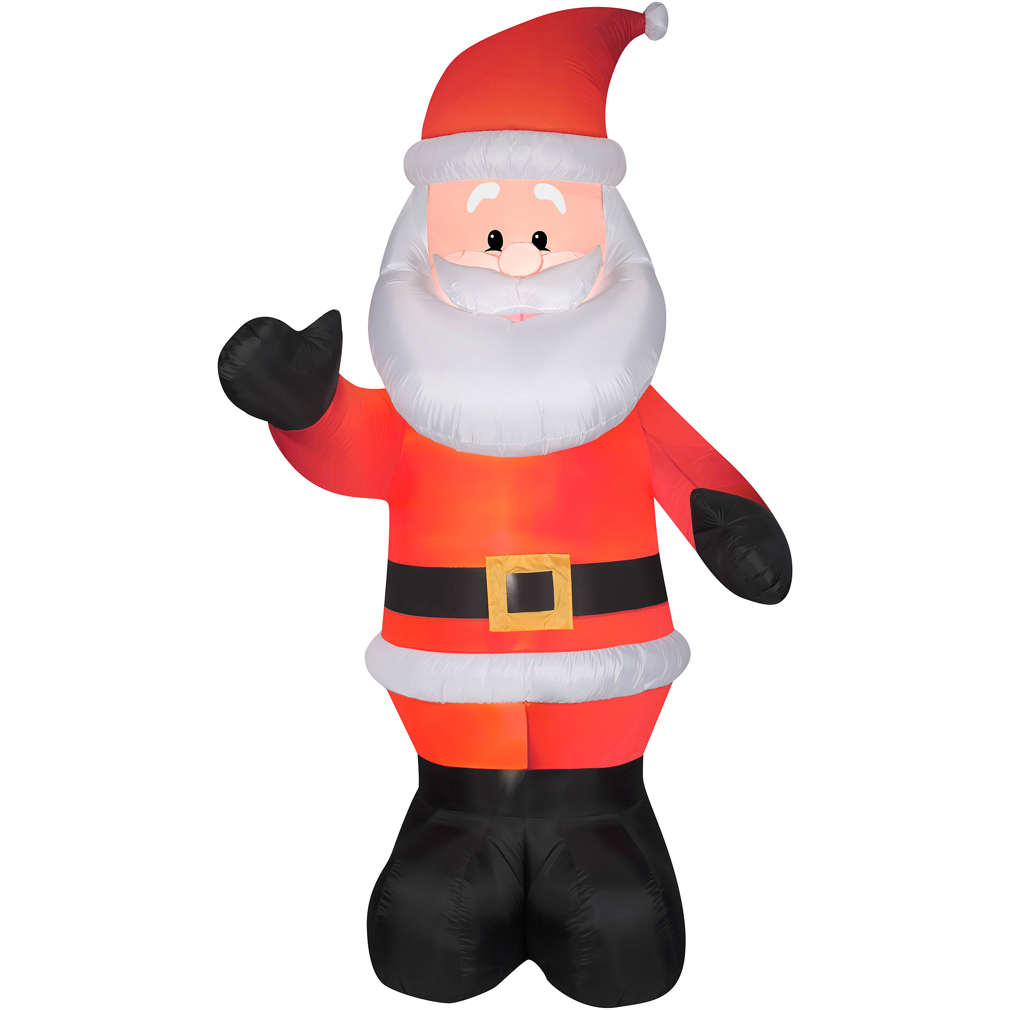 Foot lighted giant airblown inflatable santa claus