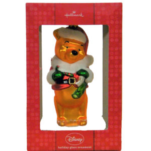 hallmark winnie the pooh glass ornament
