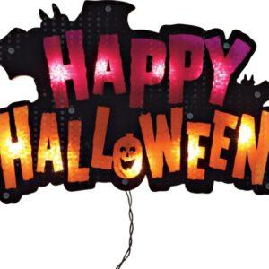 Lighted Halloween Sign