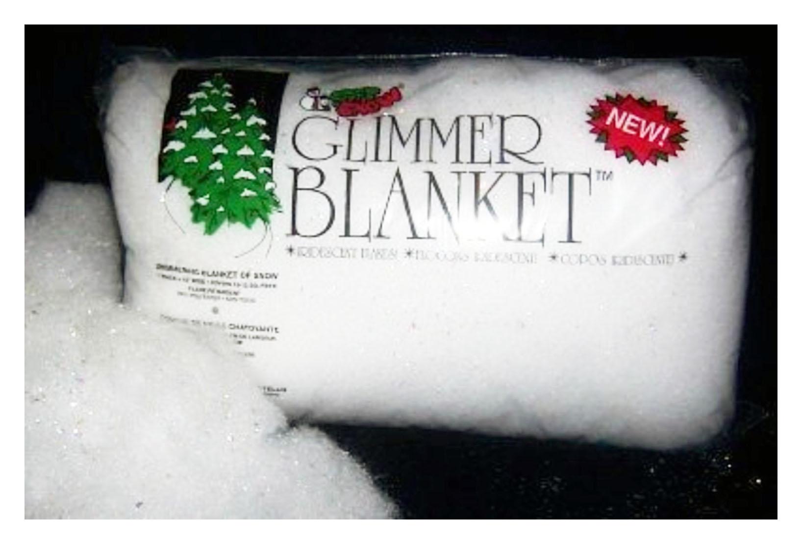 Iridescent Glimmer Snow Blanket