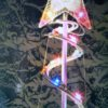 Multicolor spiral Christmas tree with star on top
