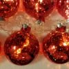 Mercury Glass Ball String Lights, Red
