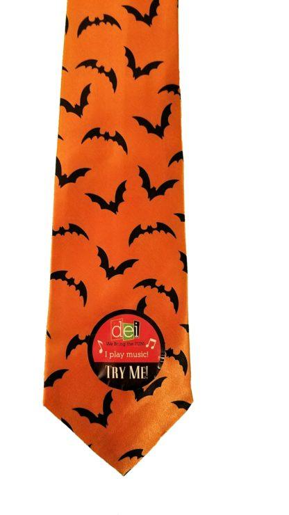 Musical Halloween NeckTie, Bats