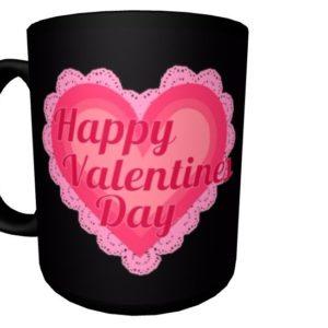 Valentine's Day Mug, MOM with Pink Heart