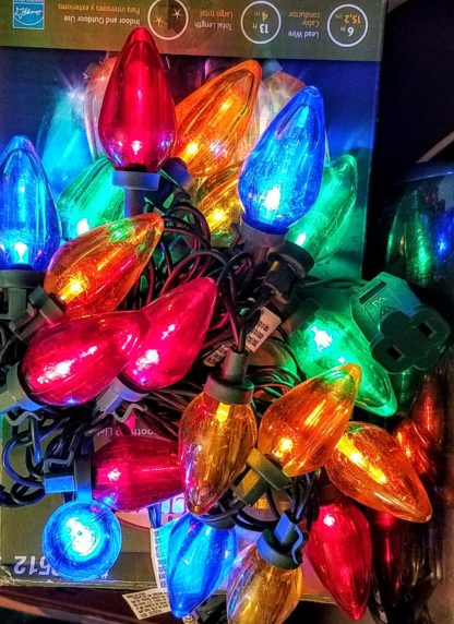 25 LED C9 Lights MultiColor