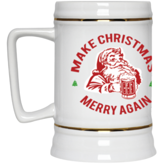 Make Christmas Merry Again Deplorable Beer Mug