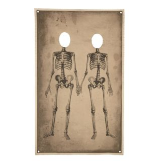 Halloween Photo Banner, Skeleton Couple