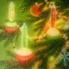 Bubble Light Christmas Wall Art