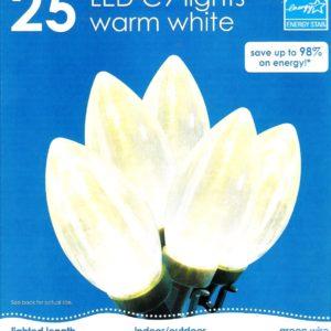 LED C9 Lights Warm White