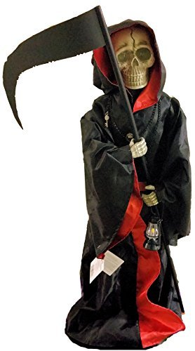 Animated Talking Grim Reaper Halloween Prop