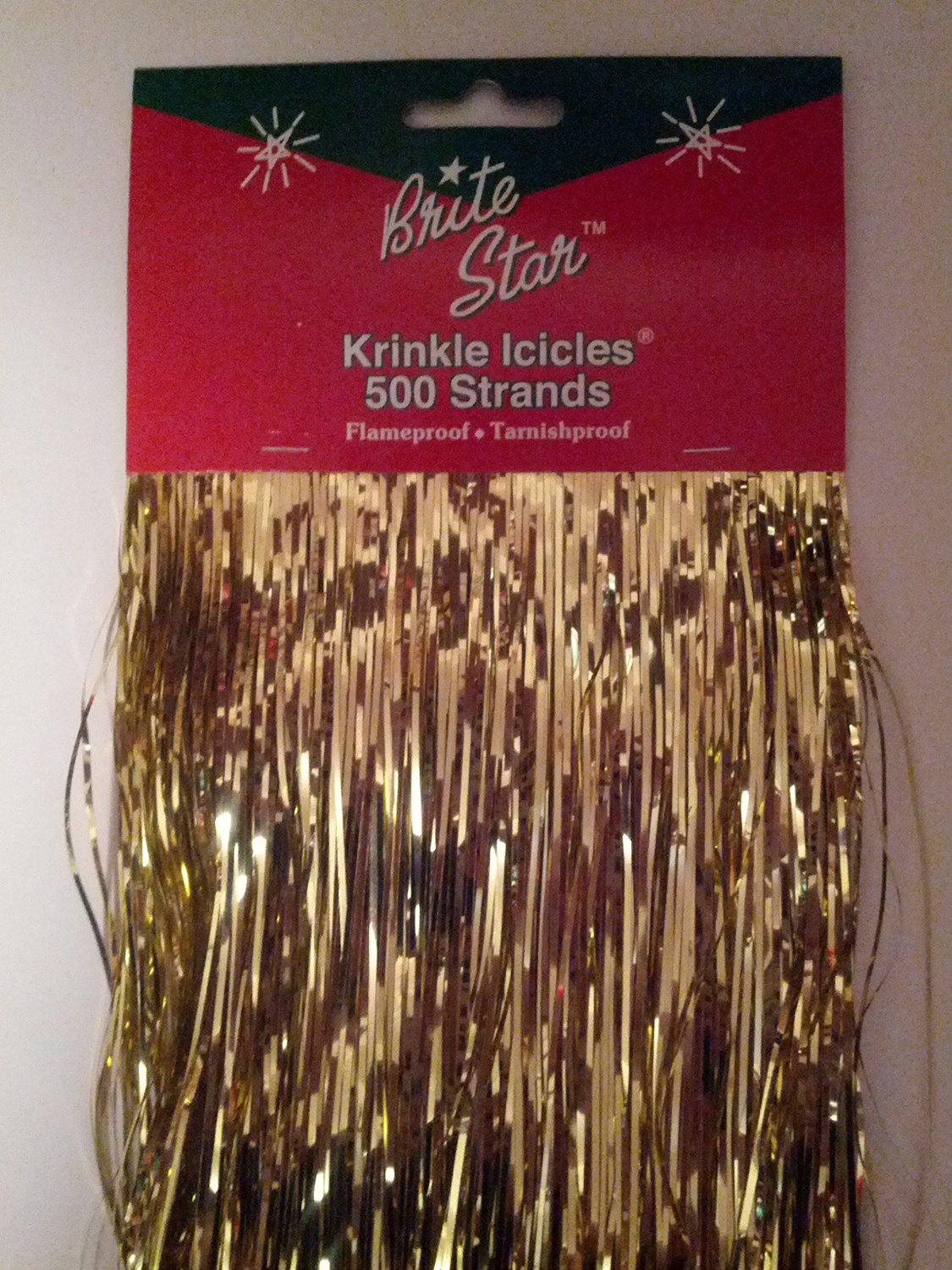 brite star old fashioned christmas tinsel icicles