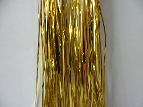 Christmas Elegance Gold Tinsel Icicles Mylar