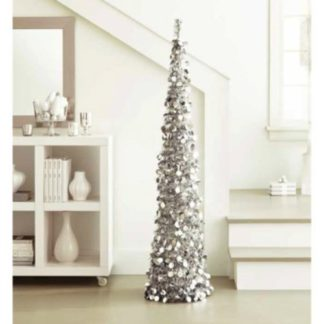 Giant 5 Ft Collapsible Tinsel Tree Pop Up Slim Decorative Tree