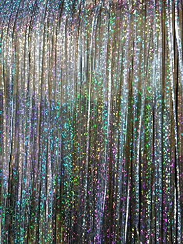 iridescent laser shimmer tinsel icicles for christmas decoration