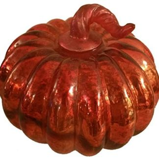 LED Lighted Mercury Glass Pumpkin