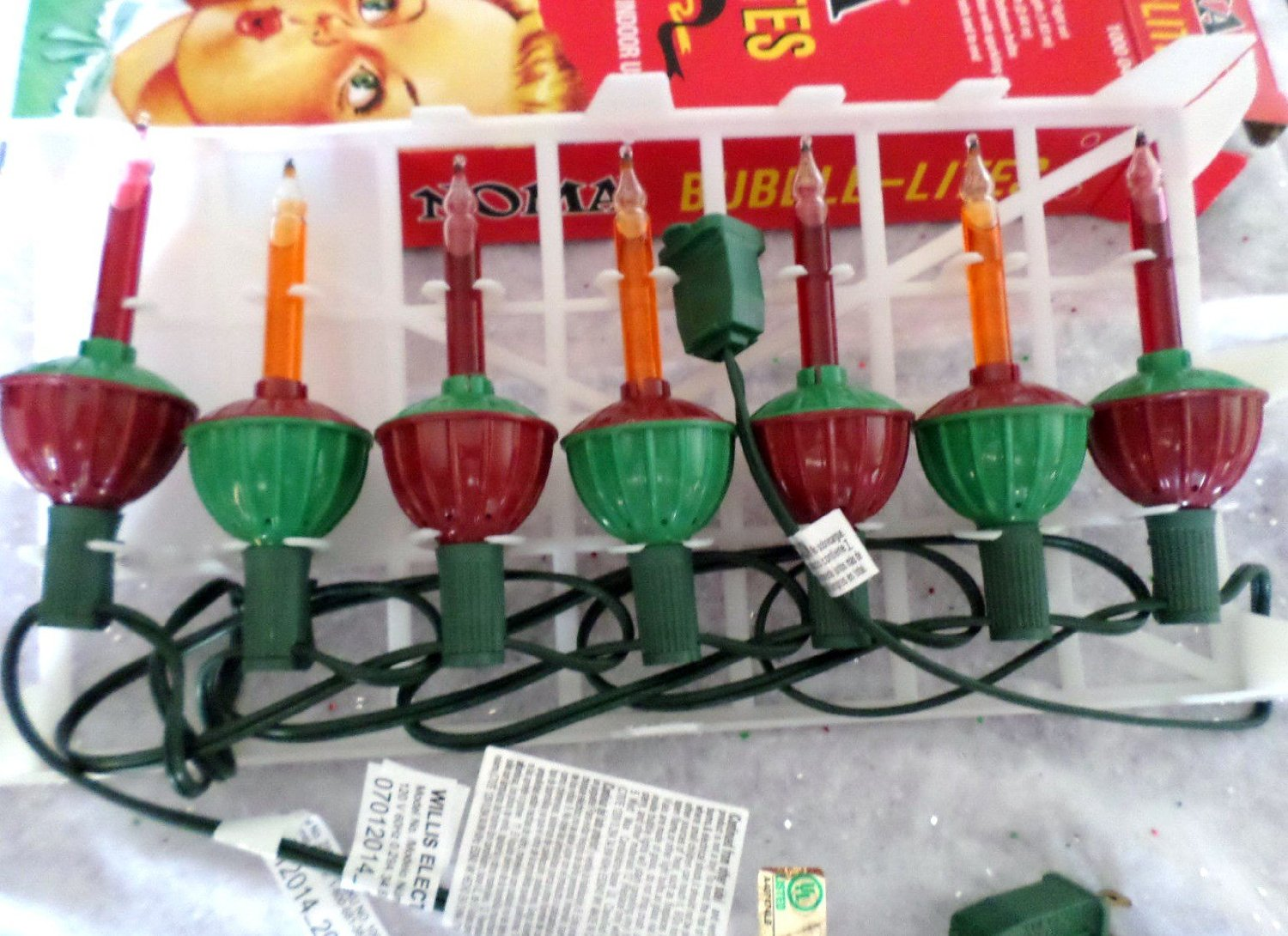 Noma Bubble Lite Set of 7 Vintage Repro Christmas Bubble Lights ...